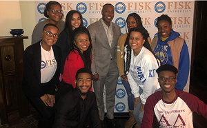 Dr. Rome with Students at his First Student Dinner